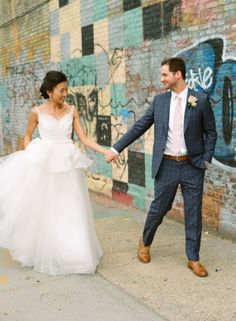 Michelle Roth A-line gown | Kleinfeld Real Bride | kleinfeldbridal.com/ | Jenny Kim Photography