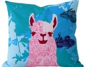 i want these llama pillows for all my beds and couches!:)