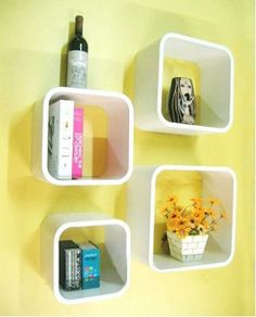 Sale10only_retro White Wall Storage Cubes Stand Unit Wall Display Shelves Shelf