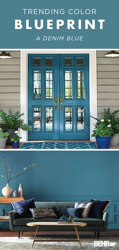 Best Exterior Paint Colors For House Rustic White Trim 62 Ideas Colorful Interiors, Paint Colors For Home, Painted Front Doors, Diy Interior Doors, Contemporary Front Doors, Exterior House Colors, Bright Living Room, Front Door, Grey Front Doors