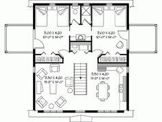 eplans garage w/apartment, plan# HWEPL05437   992 sf   28' x 32'   ***pic 3 of 3***