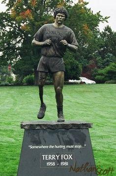 bronze sculpture terry fox mile 0 victoria bc public commission