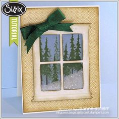 Sizzix Die Cutting Tutorial | Christmas Window Shaker Card by Jeanne_Streiff