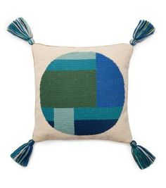 For the summer soirée hostess: Tory Burch Honor Needlepoint Pillow