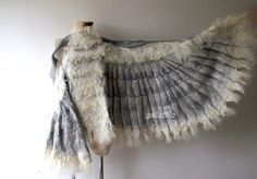 Wings nuno felted by galafilc