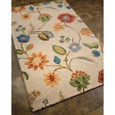 Alena Rug White Floral 9.6' x 13.6'