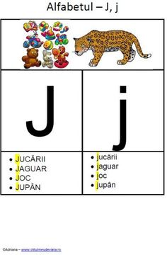 Kids Education, Speech Therapy, Jaguar, Montessori, Activities For Kids, Alphabet, David, English, School