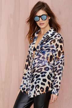 Cameo Wild Child Leopard Blouse | Shop What's New at Nasty Gal
