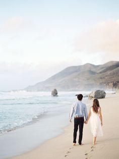 Beach Big Sur engagement session: Dress: Vow To Be Chic - http://www.stylemepretty.com/portfolio/vow-to-be-chic Photography: Christine Doneé Photography - http://www.stylemepretty.com/portfolio/christine-donee-photography   Read More on SMP: http://www.stylemepretty.com/2017/02/28/big-sur-engagement-after-a-long-distance-love-affair/