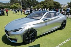 Infiniti Q60 Concept. Gorgeous curves meet classic proportions with a futuristic vibe in the Infiniti Q60 coupe—but the real question is whether the concept's sleek lines and sharp creases will translate into production.