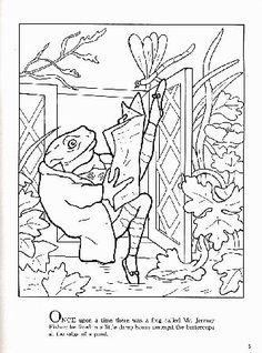 Benjamin Bunny and other Beatrix Potter character coloring ...