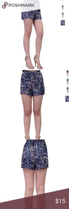 🌟Weekend Sale Lush Printed High Waist Shorts Lush Printed High Waist Shorts Size Large - weekend sale - was $15 - very short shorts - high waist - hidden zipper closure - beautiful geometric tribal print Lush Shorts