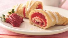 Strawberry Breakfast Crescents - you roll Fruit Roll-Ups, inside the crescent????