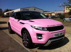 Pink Range Rover ♥ Range Rover App http://Carwarninglight.com