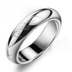 Mens Sterling Silver Plain Ring With Roman Numerals