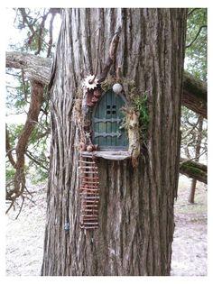 Fairy Tree Houses, Fairy Garden Houses, Gnome Garden, Garden Boots, Fairy Garden Doors, Fairy Garden Furniture, Fairy Doors On Trees, Diy Fairy Door, Diy Fairy Garden