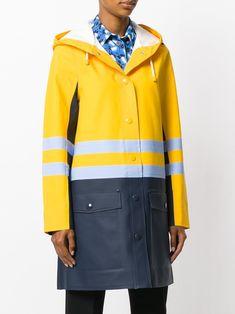 Rainy Day Outfits: Chic Rain Fashion for Bad Weather —Marni x Stutterheim Designer Raincoats, Designer Trench Coats, Rain Fashion, Girl Fashion, Rubber Raincoats, Vogue, Rain Jacket Women, Yellow Raincoat, Rain Gear