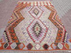 "Anatolia Turkish Antalya (Barak) Kilim 64,9"" x 96,4"" Area Rug Carpet Wool #Turkish"