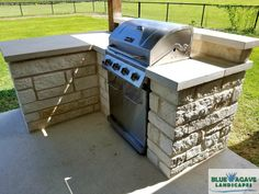 Photo of Blue Agave Landscapes - Hutto, TX, United States. Blue Agave Landscapes created this small outdoor kitchen for a Coupland customer.