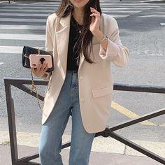 Workwear Fashion, Blazer Fashion, Fashion Outfits, Ulzzang Fashion, Korean Fashion, Daily Fashion, Everyday Fashion, Blazer Outfits Casual, Business Outfits Women