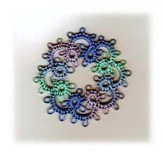 From Learning How To Needle Tat by Barbara Foster. Her website is http://hhtatting.com/.  Click on  Books. Tatted Angels & More 26 Tatting Patterns is also on Handy Hands. Wonderful website for tatters (needle and shuttle).