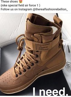 Brown Nike air force one