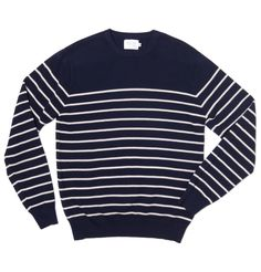 Grey striped v-neck 100% merino sweater