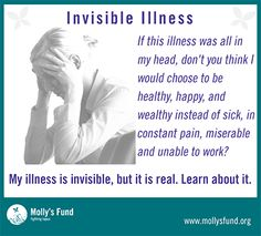 #invisible illness. It's not in your head.