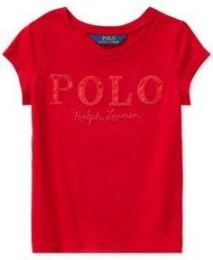 Polo Ralph Lauren Cotton T-Shirt, Toddler Girls (2T-5T) - Red 2/2T