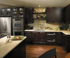 Kitchen Ideas Dark Brown Cabinets contemporary dark brown painted kitchen cabinets | home