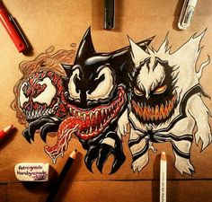 Ghastly, Haunter, Gengar with symbiotes! AWESOME