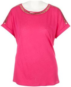Plus Bay Studio Plus Sequin Shoulder Top Bay Studio. $27.99