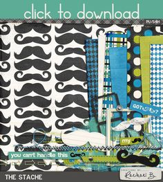 The Stache mini kit freebie from Creations by Rachael B