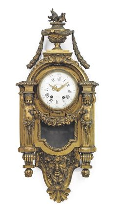 A FRENCH ORMOLU CARTEL CLOCK -  LAST QUARTER 19TH CENTURY