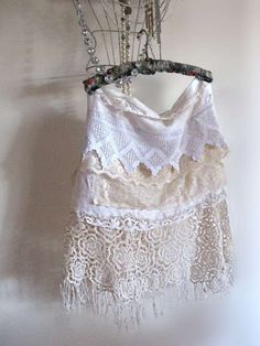 recycled skirt made with doilies