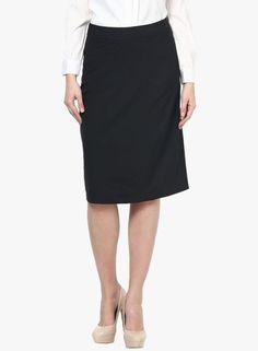 18ee9efc19 BLACK PENCIL SKIRT Designer Kurtis Online, Jodhpur, Indian Dresses, Pencil  Skirt Black,