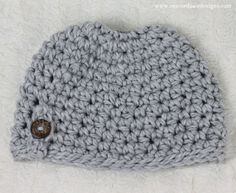 Bun Hat Crochet Pattern Free Messy Bun Beanie Crochet Patterns by Rescued Paw Designs. Try this FREE pattern today!Free Messy Bun Beanie Crochet Patterns by Rescued Paw Designs. Try this FREE pattern today! Crochet Pony, Puff Stitch Crochet, Chunky Crochet, Crochet Beanie, Crochet Hats, Crocheted Headbands, Crochet Stitches, Free Crochet, Easy Crochet Patterns