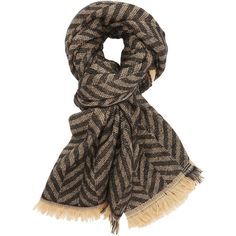 Charlotte Russe Plaid & Chevron Blanket Scarf (120 HRK) ❤ liked on Polyvore featuring accessories, scarves, black combo, plaid blanket scarf, wrap shawl, chevron scarves, charlotte russe and plaid scarves
