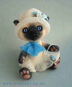 Кошечка Незабудка | biser.info - всё о бисере и бисерном творчестве