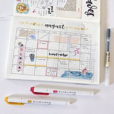 Easy Bullet Journal Ideas To Well Organize & Accelerate Your Ambitious Goals Bullet Journal Planner, Bullet Journal Notebook, Bullet Journal School, Bullet Journal Spread, Bullet Journal Ideas Pages, Bullet Journal Layout, My Journal, Bullet Journal Inspiration, Journal Pages