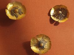 Golden poppies, Roman hair ornaments by rosewithoutathorn84, via Flickr