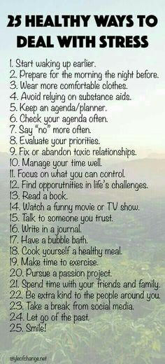25 Healthy ways to deal with stress