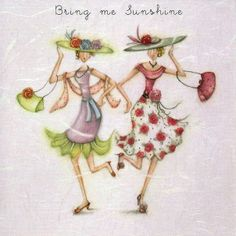 Bring Me Sunshine Female Birthday Card Berni Parker Designs Birthday Cards For Women, Birthday Greeting Cards, Sunshine Birthday, Crazy Friends, Jolie Photo, Happy Birthday Wishes, Whimsical Art, Illustrations, Cute Art