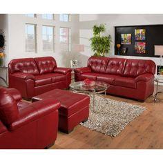 Simmons Upholstery 9569-02-Soho Soho Bonded Leather Loveseat Alternative View