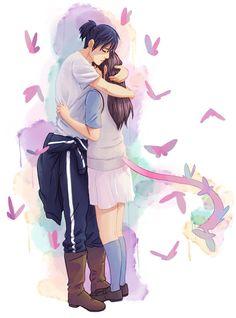 Yato X Hiyori, Noragami Anime, Anime Art, Manga Anime, Yatori, Girls Anime, Cute Anime Couples, Anime Ships, Wonderful Images