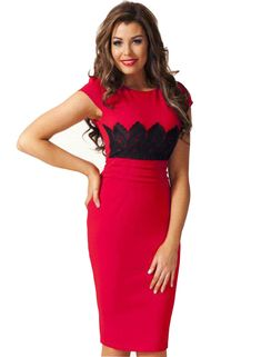 fae89fc1f755 Make way for the Lacy Lass! Check out this stylish designer pink dress,  brought