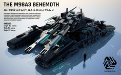M98A3 Behemoth Superheavy Railgun Tank (UPDATED) by Universe-of-Dusk on DeviantArt