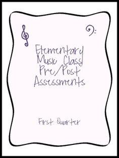 Elementary Music Standards Assessments - 1st Quarter