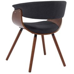 holt midcentury modern fabric and bent wood accent chair free shipping today