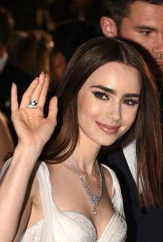 ♥ Pinterest: DEBORAHPRAHA ♥ Lily Collins at Cannes, red carpet look